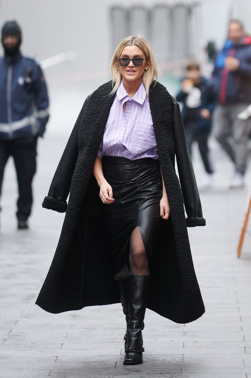 Ashley Roberts pictured leaving Global Radio
