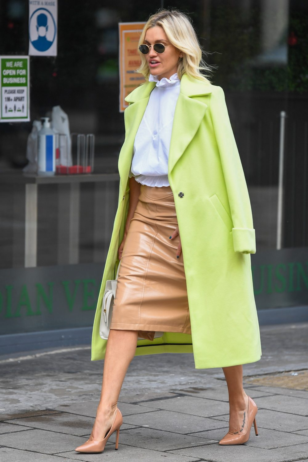 Ashley Roberts seen leaving Global Studios, Heart FM, London UK