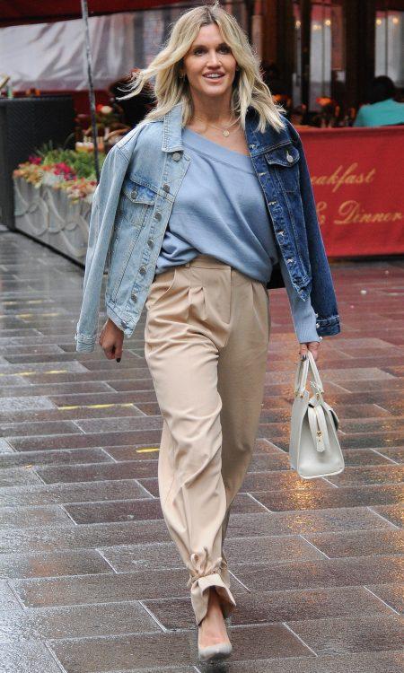 Ashley Roberts seen leaving Global Studios, Heart FM, London UK, 27 Oct 2020