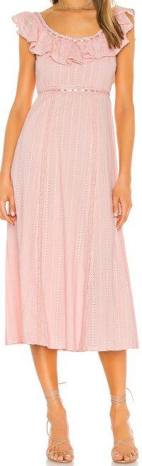 Baby Pink Ande Midi Dress-Tularosa
