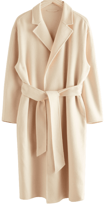 Beige Belted Wool Blend Coat-& Other Stories