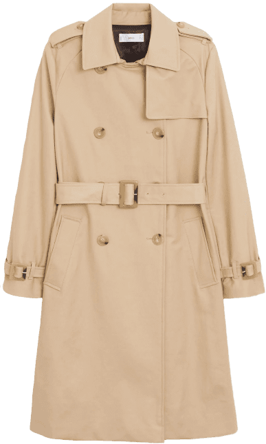 Beige Classic Cotton Trench Coat