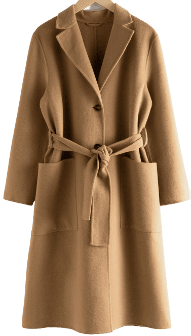 Beige Wool Blend Belted Long Coat-& Other Stories