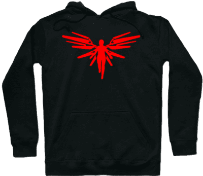 Black A Red Angel Hoodie