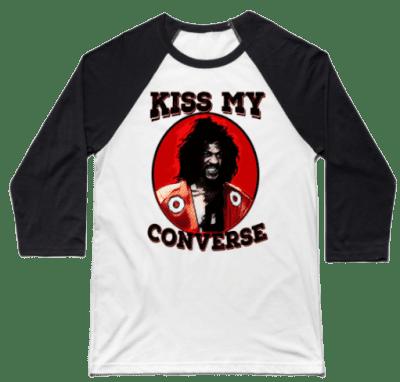 Black And White Kiss My Converse Baseball T-Shirt
