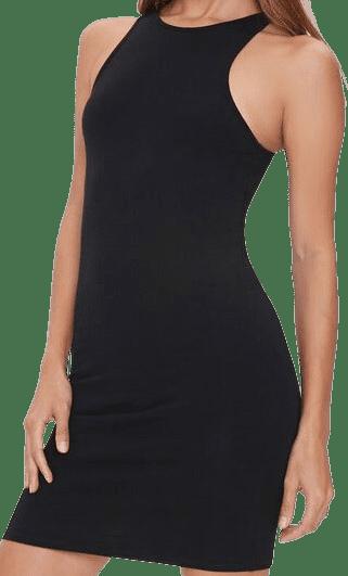 Black Bodycon Mini Tank Dress-Forever 21
