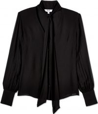 Black Brigitte Tie Neck Top-Billie the Label