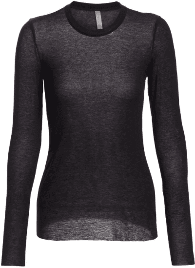 Black Butter Layering Long-Sleeve Tee-Commando