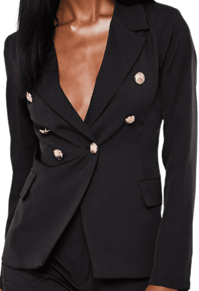 Black Co Ord Military Blazer