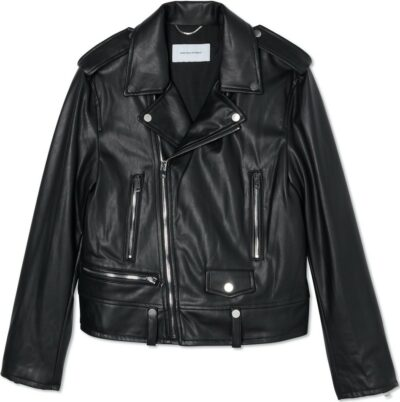 Black Faux Leather Biker Jacket-More Than Yesterday