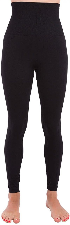 Black High Waist Compression Leggings-Homma