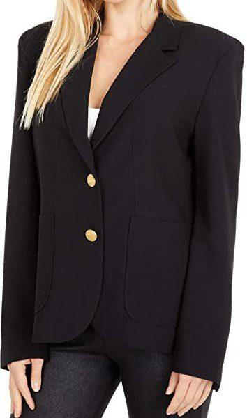 Black Inside Scoop Blazer Jacket-BB Dakota x Steve Madden