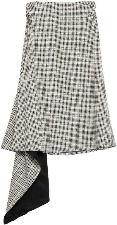 Black Knee Length Skirt-Patrizia Pepe