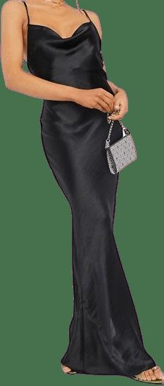 Black Maxi Slip Dress
