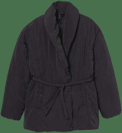 Black Padded Jacket-H&M