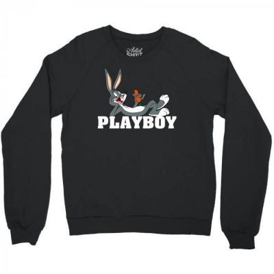 Black Playboy Bugs Bunny Crewneck Sweatshirt-Artist Shot_result