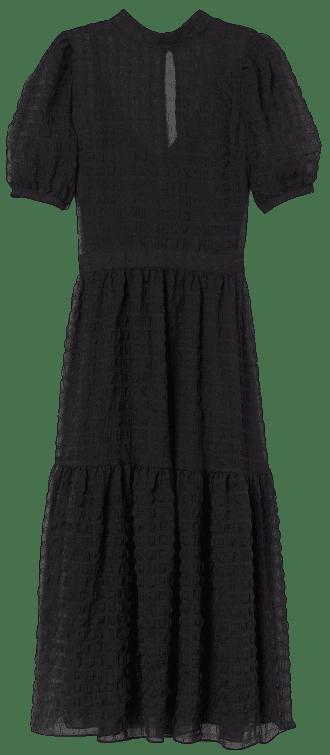 Black Puff-Sleeved Dress