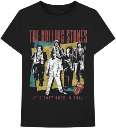 Black Rolling Stones Classic Music Band T-Shirt