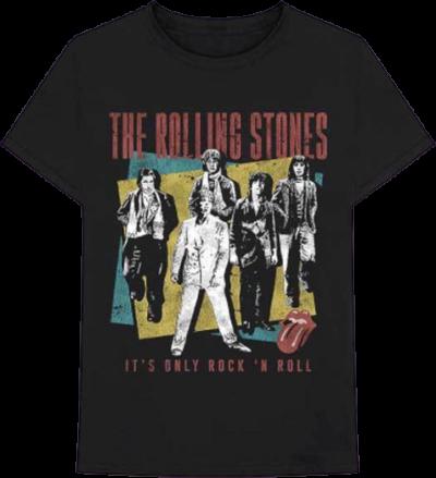 Black Rolling Stones Classic Music Band T-Shirt