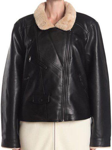 Black Short Faux Fur Coated Jacket-Vero Moda