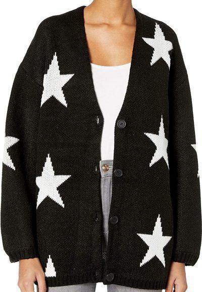 Black Stars Cardigan