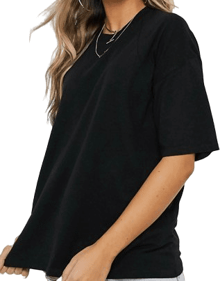 Black Super Oversized T-Shirt With Seam Detail-Asos Design