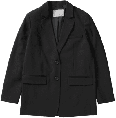 Black The Oversized Blazer-Everlane