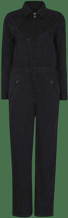 Black Ultimate Utility Cotton-Blend Jumpsuit-Whistles