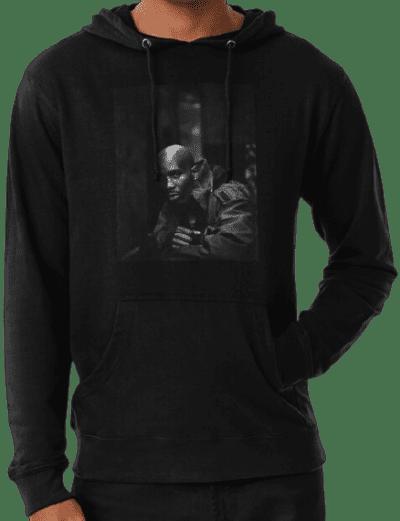 Black Vintage DMX Lightweight Hoodie-Hipsters Remedy