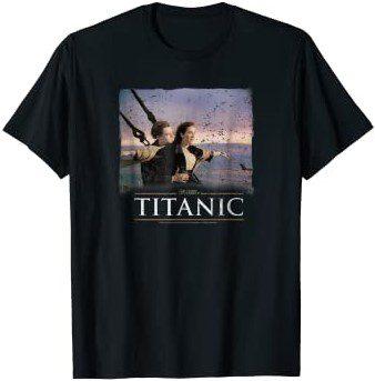 Black Vintage King of the World T-Shirt-Titanic