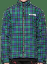 Blue Decades Plaid Puffer Jacket