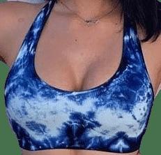 Blue Lash Tie-Dye Workout Top