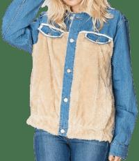 Blue Melanie Furry Denim Jacket