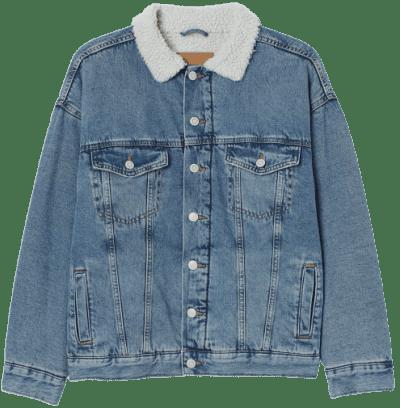 Blue Oversized Denim Jacket-H&M