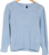 Blue Skylar Puff Sleeve Pullover-Love By Design