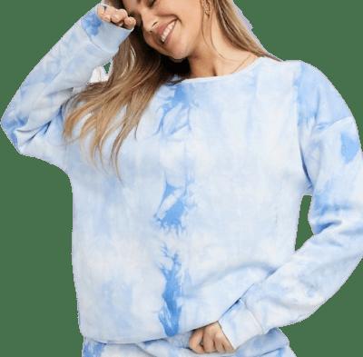 Blue Tie Dye Sweatshirt-Chelsea Peers