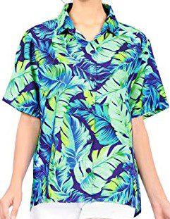 Blue Tropical Hawaiian Shirt-Happy Bay