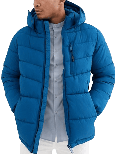 Bright Blue Puffer Jacket