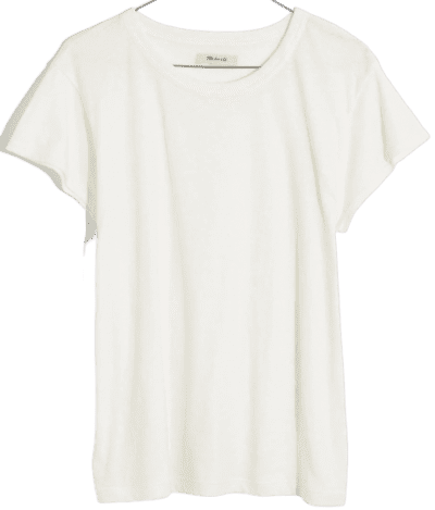 Bright Ivory The Perfect Vintage Tee-Madewell