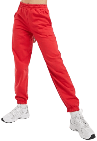 Bright Red Cuffed Sweatpants-New Look