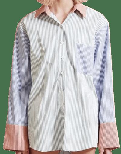 Brooklyn Color Block Shirt-Storets