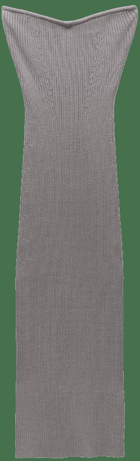 Brown Knit Midi Dress