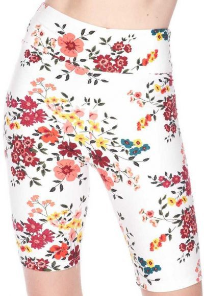 Buttery Soft Fresh Spring Floral Shorts-World of Leggings