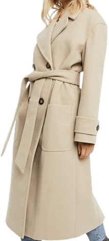 Camel Belted Luxe Maxi Coat