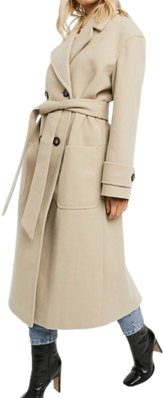 Camel Belted Luxe Maxi Coat-Asos Design