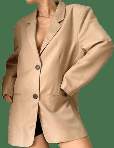 Camel Dad Suit Blazer-Asos Design