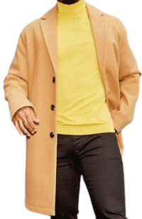 Camel Unlined Wool Mix Overcoat