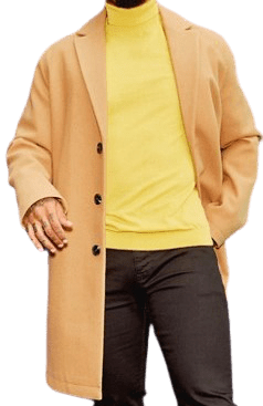 Camel Unlined Wool Mix Overcoat
