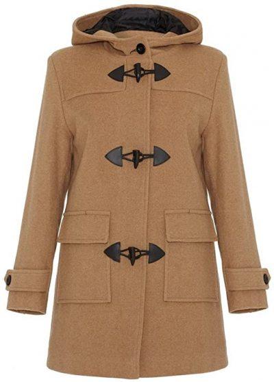Camel Wool & Cashmere Hooded Duffle Coat-De La Creme