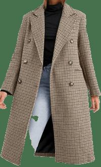 Check Dad Coat-Asos Design